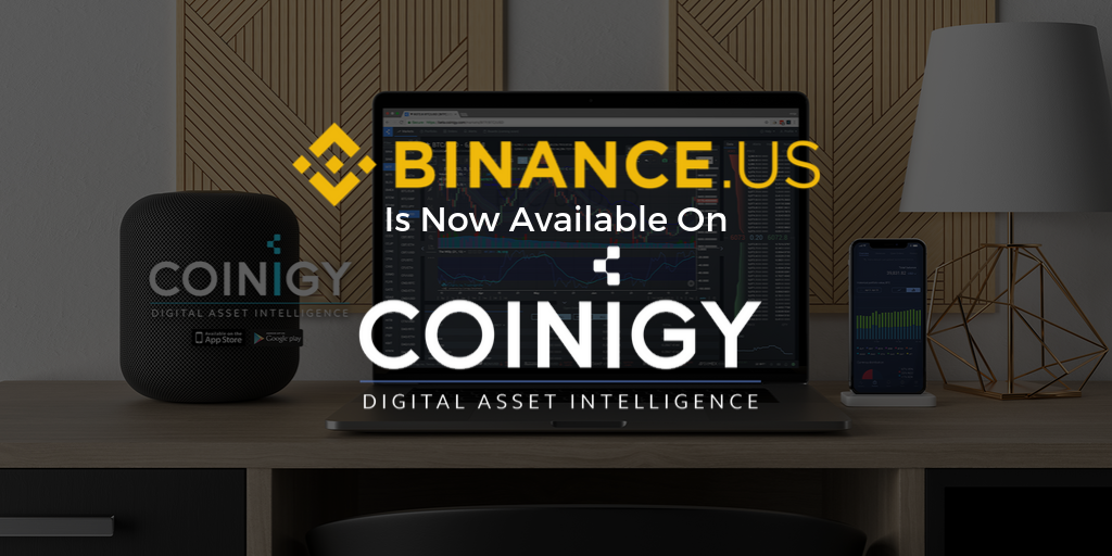Binance.US Is Now Available For Charting on Coinigy