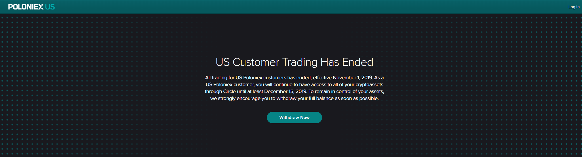 Poloniex Ends US Customer Trading