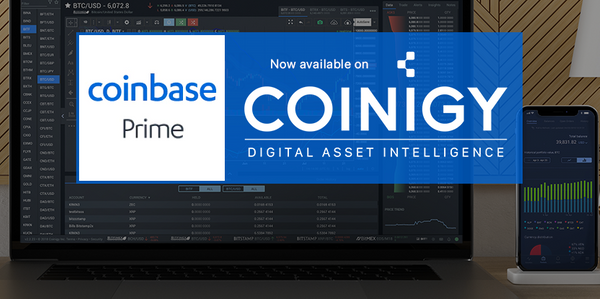 Coinbase Prime Now Available for Charting on Coinigy