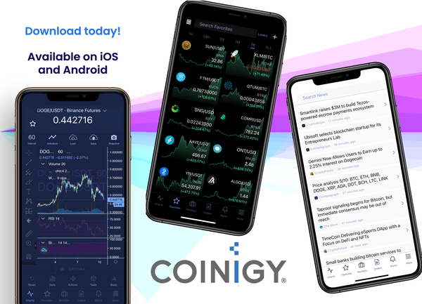 Coinigy Mobile App Update - Version 0.5.29